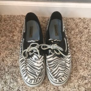 zebra print sperrys